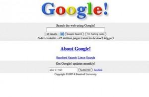 Google fore lansering 1998