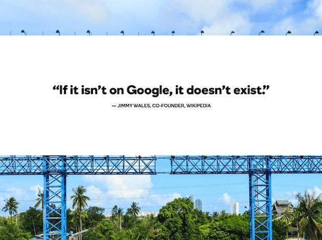 Finns du inte i Google, så finns du inte alls!